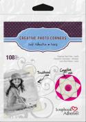 3L Scrapbook Adhesives Self-Adhesive Creative Paper Photo Corners, Ivory, 108-Pack