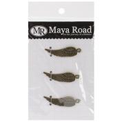 Maya Road VF2470 Metal Antique Angel Wings Scrapbooking Charm Embellishments