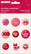 My Funny Valentine Fabric Buttons // TPC Studio