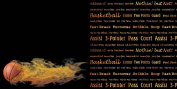 Sports On Fire Paper-Basketbal