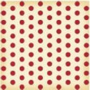 Jenni Bowlin Studio - Vintage Collection - 12 x 12 Patterned Paper - Red Large Dot