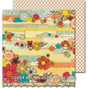 Sassafras Sweet Marmalade Double-sided 12x12 paper - Handmade