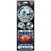 Dallas Cowboys Official NFL 27cm x 10cm Prismatic Car Decal Set Cowboys Wincraft