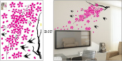 DIY Bird Tree Flower Wall Sticker Decals LW1065