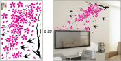 DIY Bird Tree Flower Wall Sticker Decals LW1065