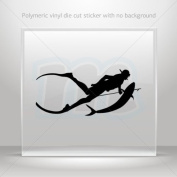 Stickers Decals Spearfishing Diver car helmet window bike Garage door 0502 ZZ839
