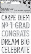 Valedictorian Self-Adhesive Shaped Jewels 8.9cm x 11cm -Words