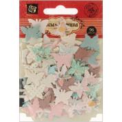 Fairy Belle Handmade Paper Flowers-Flutter Bits .190cm 96/Pkg