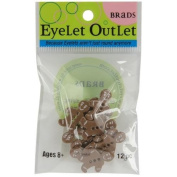 Eyelet Outlet Shape Brads-Gingerbread Boy 12/Pkg
