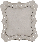 Fabscraps Die-Cut Grey Chipboard Embellishments, Dressing Room Mirror Frame