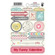 Fancy Pants Be Loved 4x6 Label Sticker Valentine Scrapbook Embellishments