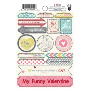 Fancy Pants Be Loved 4x6 Label Sticker Valentine Scrapbook Embellishments