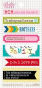 Bella Blvd Daily Chevies & Everyday Bits We Are Family Bookplates Stickers