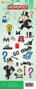 Cardstock Stickers 12cm x 30cm Sheet-Monopoly