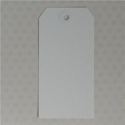 Maya Road ML2593 Manila Shipping Tags No.5 Scrapbooking Embellishments, Cloud White