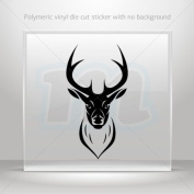Decal Stickers Deer head car window bike ATV jet-ski Garage door 0502 XX592