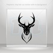 Decal Stickers Deer head car window bike ATV jet-ski Garage door 0502 XX592
