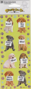 Dog Wow Great Job Scrapbook Stickers