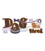 Jolee's Boutique Title Wave Stickers-Dog Tired