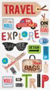 EK Success Brands Decorative Sticko Stickers, Happy Travelling