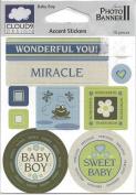 Baby Boy Cardstock Scrapbook Stickers