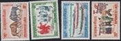 Laos Stamps - Scott # 118-21, MNH, F-VF