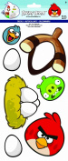 Sandylion Angry Birds Decals Stickers, 15cm by 36cm