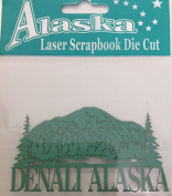 Alaska Laser Scrapbooking Craft Die Cut Side Denali