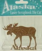 Alaska Laser Scrapbooking Craft Die Cut Moose