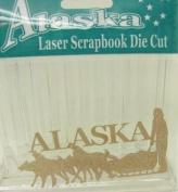 Alaska Laser Scrapbooking Craft Die Cut Sled Dog Team