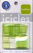 Green Tea Square Icicles Bubbles