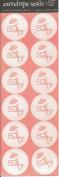 Pink Baby Linen Texture Envelope Seals