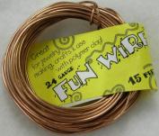 Toner Plastic Coated Fun Wire 24 Gauge 15 Ft/Pkg