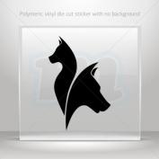 Decals Stickers cat dog petshop symbol car helmet window bike Garage door 0502 XW7RS