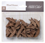 Studio Calico Wood Veneer Boats and Anchors Wooden Embellishments