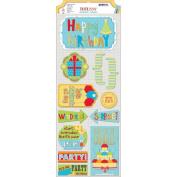 Surprise! Cardstock Stickers 11cm x 30cm -Party Time