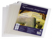 Generations Page Protector Refills with Extension Posts, 30cm x 30cm , Top-Loading, Clear, 10 Per Pack