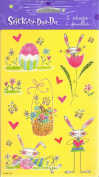 Whimsical Bunnies and Eggs Scrapbook Stickers