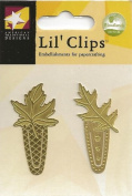 Large Gold Leaf Clips Metal Lil' Clips for Scrapbooking