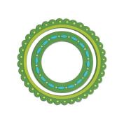 Green Frames - # 2822 - Softies Scrapbooking Embellishments - 2 Pieces