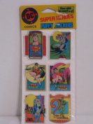 Vintage 1988 DC Comics Super Heroes Puffy Stickers