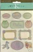 Baby Word Domes Marcella Epoxy Scrapbook Stickers