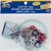 Little Yellow Bicycle Clear Cuts Scrapbooking Embellishments