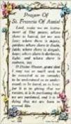 Rosarybeads4u St Saint Francis Verse Prayer Card In Plastic Wallet 8.3cm X 13cm El