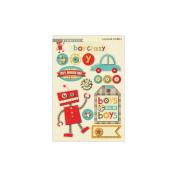 Boy Crazy Layered Stickers-