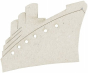 Fabscraps Die-Cut Grey Chipboard Embellishments, Boat, 7cm by 5.1cm , 2 Per Pack