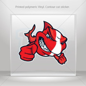 Decal Sticker Cartoon Scuba Flag Shark car helmet window bike Garage door 0500 ZZ783