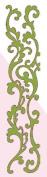 Scrollwork Border Velvet Lime Class A'Peels Scrapbook Stickers