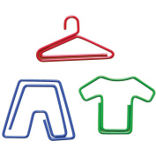 Paper Clips Carded-Laundry Shaped(hanger,pants,shirts)20/Pk