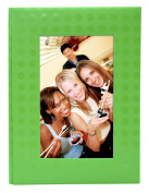 MCS MBI Embossed Fabric 36 Pocket Photo Album, Green